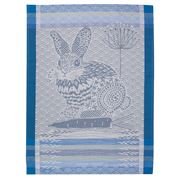 Garnier-Thiebaut - Lapin Design Blue Tea Towel