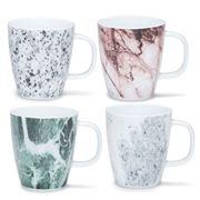 S & P - Masonry Mug Set Assorted Design 4pce