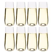 S & P - Polo Stemless Champagne Flute Set 8pce