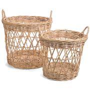 Bullseye - Round Baskets w/Handles Set 2pce