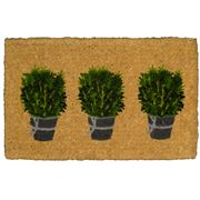 Doormat Designs - Rosemary Pots Mat