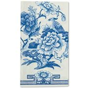 Caspari - Blue And White Guest Napkin Towel 15pce
