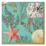Caspari -  Marine Study Turquoise Lunch Napkins 20pce