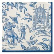 Caspari - Silk Road Toile Blue Lunch Napkins 20pce
