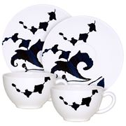 Gien - Indigo Teacups & Saucers Set 2pce