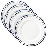 Gien - Indigo Filet Dinner Plates Set 4pce