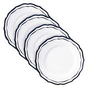 Gien - Filet Canape Plates Indigo Set 4pce