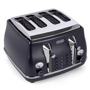 DeLonghi - Icona Elements Four-Slice Toaster CTOE4003 Blue