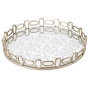 Avalon - Crown Round Glass/Metal Tray