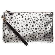 Mighty Purse - Silver/Blk Star Wristlet w/ Charger & Adaptor
