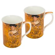 The Leonardo Collection - Klimt Lady Mugs Set 2pce