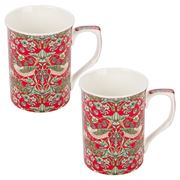 The Leonardo Collection - Strawberry Thief Mugs Set 2pce