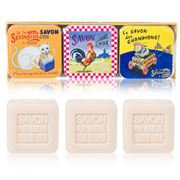 La Savonnerie De Nyons - Old Pub Cotton Flower Soap 3pce