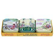 La Savonnerie De Nyons - The Lovers Lavender Soap Set 3pce