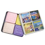 La Savonnerie De Nyons - View Of Provence Tin Soap Set 4pce