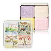 La Savonnerie De Nyons - View Of Paris Tin Soap Set 4pce