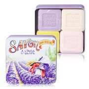 La Savonnerie De Nyons - Picking Lavender Tin Soap Set 4pce