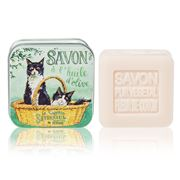 La Savonnerie De Nyons - Black & White Cats Soap Tin 100g
