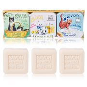 La Savonnerie De Nyons - Cats Cotton Flower Soap Set 3pce