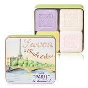 La Savonnerie De Nyons - Eiffel Tower Tin Soap Set 4pce