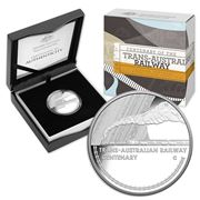 RA Mint - Centenary Of Trans-Australian Railway Silver Coin