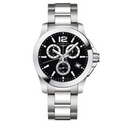 Longines - Conquest Black Dial S/Steel Chronograph 41mm
