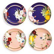 Rosanna - Seven Sisters Floral Plates Set 4pce