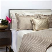 Ann Gish - Coin Duvet Set Gold/Pumice Queen 3pce
