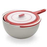Lekue - 3 Piece Mixing Bowl Set Red