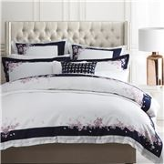 Wedgwood Home - Spring Blossom Navy Queen Quilt Cover Set