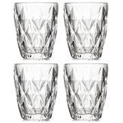 S & P - Camden Embossed Clear Tumbler Set 4pce 260ml