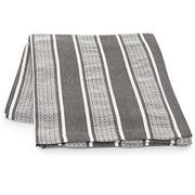 Lexington - Cotton Striped Tablecloth Grey/White 150x250cm