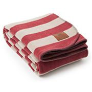 Lexington - Striped Red/Beige Bedblanket 260x220cm