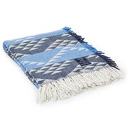 Lexington - Jacquard Pattern Throw Blue 130x170cm