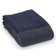 Lexington - Patch Blue & White Bedspread 260x240cm