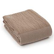 Lexington - Patch Beige & White Bedspread 260x240cm