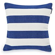 Lexington - Block Striped White/Blue Cushion 50x50cm