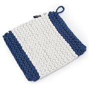 Lexington - Crochet White/Blue Potholder