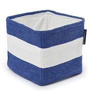 Lexington - Block Striped Blue/White Basket