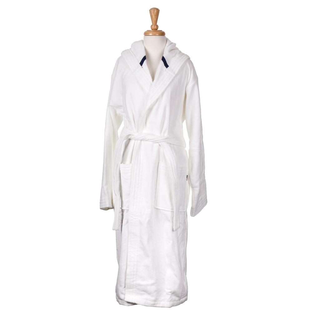 Lexington - Velour Hooded Bathrobe White Small  3bcf0779c