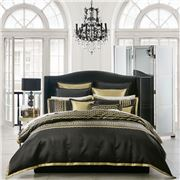 Davinci - Athena Black Super King Quilt Cover Set