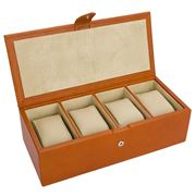 Redd Leather - Natural Milled Watch Box Cognac Tan