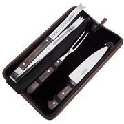 Tramontina - Churrasco BBQ Carving Set w/ Leather Pouch 4pce
