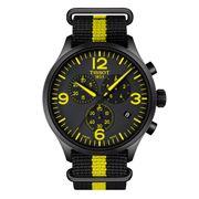 Tissot - Chrono XL Black Wristwatch w/ Yellow & Black Strap
