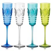 Baci Milano - Champagne Flute Set 4pce 225ml Assorted