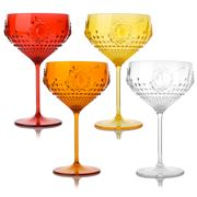 Baci Milano - Cocktail Glass Set 4pce 400ml Assorted