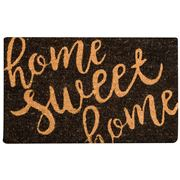 Madras - Home Sweet Home Black Doormat