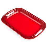Le Creuset - Cerise Red Stoneware BBQ Platter 35.5cm