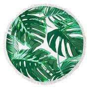 Round Towel - Giant Round Towel Leaf