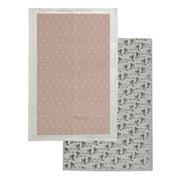 Rain & Humble - In Flight Tea Towel Pack 2pk Mushroom Pink